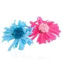 резинка для волос тонкая для детей с цветком 9797 3