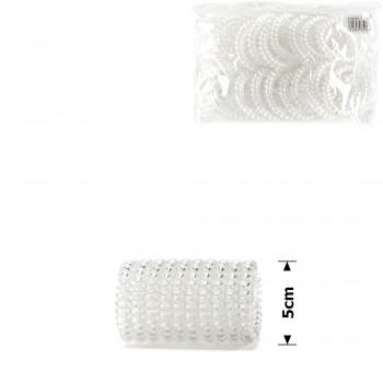 резинка-пружинка для волос Ø50mm прозрачная глянцевая (invisibobble) 11953 - бижутерия оптом Arkos.