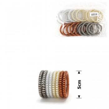 резинка-пружинка для волос Ø50mm тонкая глянцевая 14731 - бижутерия оптом Arkos.