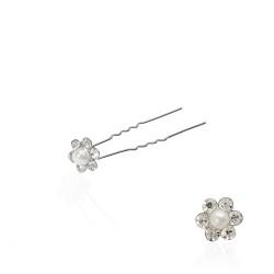 шпильки для волос с цветком из жемчуга и страз 10207 1