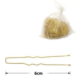 шпильки для волос золотистые 6см (2000шт) 1