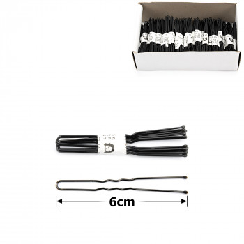 шпильки для волос в коробочке 6см чёрные (50 связок по 10шт) 12121 - бижутерия оптом Arkos.