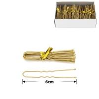 шпильки для волос в коробочке 6см серые (50 связок по 10шт) 12122