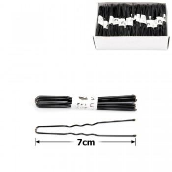 шпильки для волос в коробочке 7см чёрные (50 связок по 10шт) 12123 - бижутерия оптом Arkos.