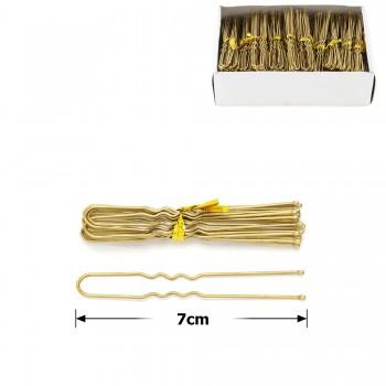 шпильки для волос в коробочке 7см серые (50 связок по 10шт) 12124 - бижутерия оптом Arkos.
