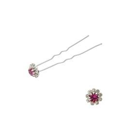 шпильки для волос цветок из страз фиолетового цвета (24шт) 3027 1