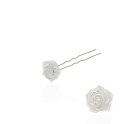 шпильки для волос с пластиковым цветком и стразом SH5-2 (24шт) уп 1