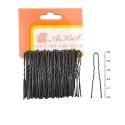 шпильки для волос в пакете 5см чёрные 4237