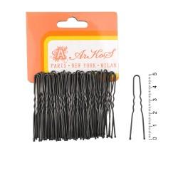 шпильки для волос в пакете 5см чёрные 4237 1