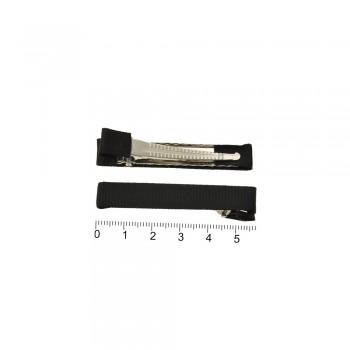 заколка уточка с репсовой лентой — 5.7cm 13641 чёрная - бижутерия оптом Arkos.