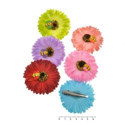 заколка уточка для волос ромашка цветная с пчелой 4687 1