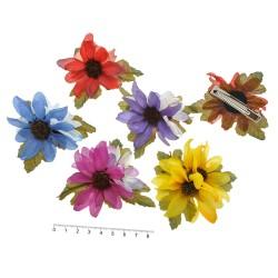 заколка уточка для волос с цветком 5890 1