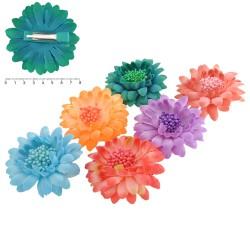 заколка уточка для волос с цветком 6843 1