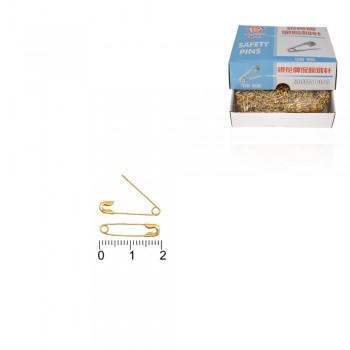 булавка 20мм золотистая 13337 - бижутерия оптом Arkos.