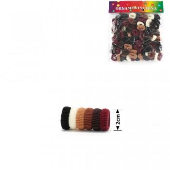 резинка для волос махровая 15709 коричневая - бижутерия оптом Arkos.