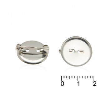 основа для броши круглая z03. 21 - бижутерия оптом Arkos.