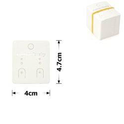 планшетка для товара картонная с вырезом под крючок (100шт) 4x4.7cm 12534 1