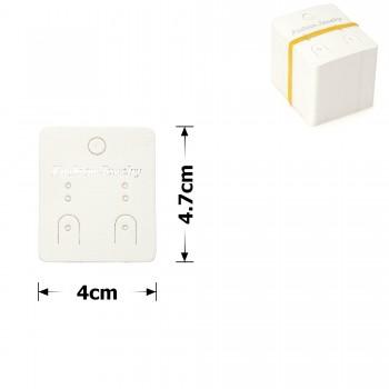 планшетка для товара картонная с вырезом под крючок (100шт) 4x4.7cm 12534 - бижутерия оптом Arkos.