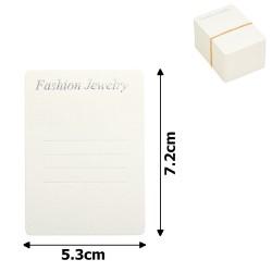 планшетка для товара картонная с вырезом под крючок (100шт) 5.3x7.2cm 12535 1