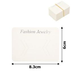 планшетка для товара картонная с вырезом под крючок (100шт) 8.3x6cm 12536 1