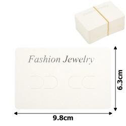 планшетка для товара картонная с вырезом под крючок (100шт) 9.8x6.3cm 12537 1