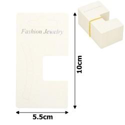 планшетка для товара картонная с вырезом под крючок (100шт)  5.5x10cm 12707 1