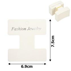 планшетка для товара картонная с вырезом под крючок (100шт) 6.9x7.5cm 12708 1