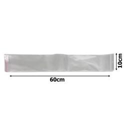 пакеты упаковочные целлофановые прозрачные 10х60см (100шт) 1