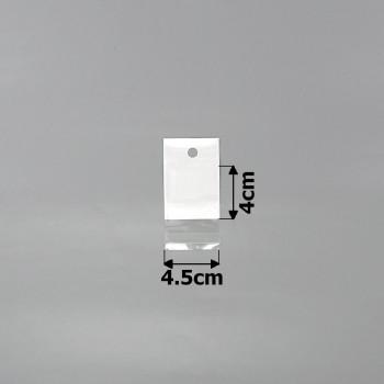 пакеты упаковочные 4.5х4см целлофановые с белым фоном - бижутерия оптом Arkos.