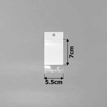 пакеты упаковочные 5.5х7см целлофановые с белым фоном - бижутерия оптом Arkos.