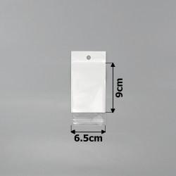 пакеты упаковочные 6.5х9см целлофановые с белым фоном 1