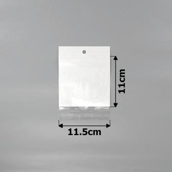 пакеты упаковочные 11.5х11см целлофановые с белым фоном - бижутерия оптом Arkos.