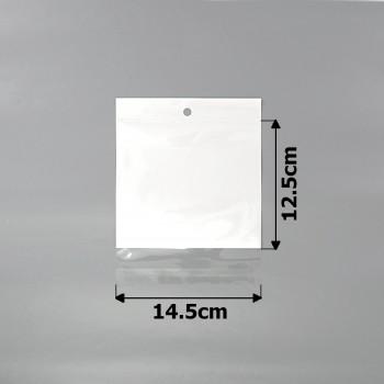 пакеты упаковочные 14.5х12.5см целлофановые с белым фоном - бижутерия оптом Arkos.