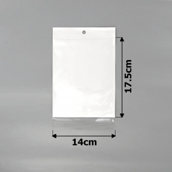 пакеты упаковочные 14х17.5см целлофановые с белым фоном - бижутерия оптом Arkos.