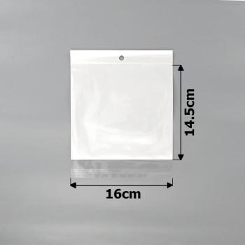 пакеты упаковочные 16х14.5см целлофановые с белым фоном - бижутерия оптом Arkos.