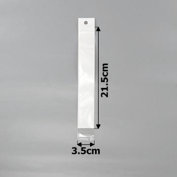 пакеты упаковочные 3.5х21.5см целлофановые с белым фоном - бижутерия оптом Arkos.