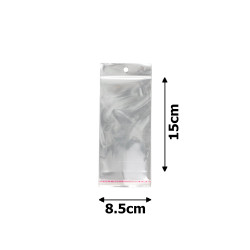 пакеты упаковочные целлофановые прозрачные 8.5x15cm 1