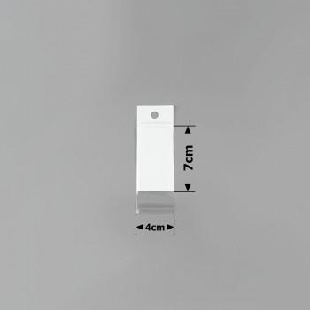 пакеты упаковочные 4х7см целлофановые с белым фоном - бижутерия оптом Arkos.