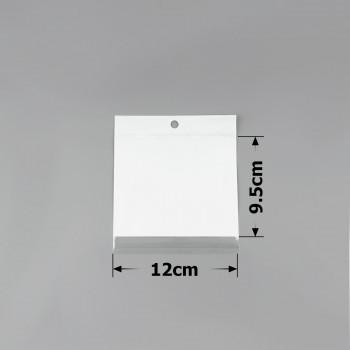 пакеты упаковочные 12х9.5см целлофановые с белым фоном - бижутерия оптом Arkos.
