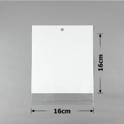 пакеты упаковочные 16х16см целлофановые с белым фоном 1