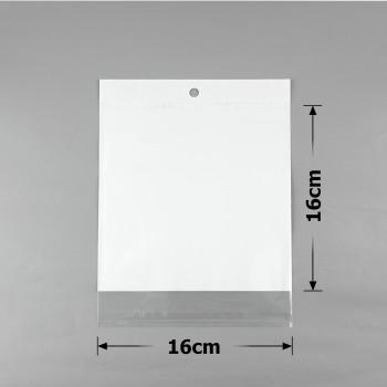 пакеты упаковочные 16х16см целлофановые с белым фоном - бижутерия оптом Arkos.