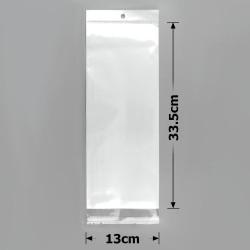 пакеты упаковочные 13х33.5см целлофановые с белым фоном 1
