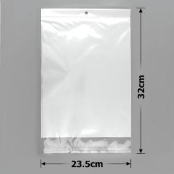 пакеты упаковочные 23.5х32см целлофановые с белым фоном 1